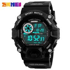 online buy whole mens sport watches waterproof from mens skmei men digital sports watches led military swim wristwatches waterproof alarm chronograph rubber strap relogio masculino