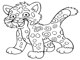 Free Online Cheetah Coloring Pages Cheetah Color Page Free Online