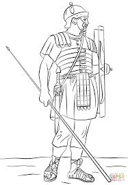 Roman Legionary Soldier Coloring Page Free Printable Coloring