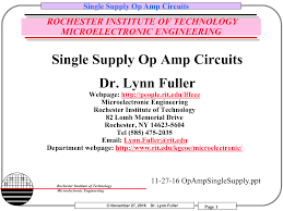 Single Supply Op Amp Design Single Supply Op Amp Circuits Rit People Manualzz Com
