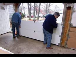 garage doors installedHow to Install a Garage Door  This Old House  YouTube
