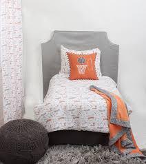 home toddler bedding boys toddler bedding bacati basketball orange grey muslin 4 pc toddler bedding set