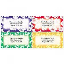 Printed Return Address Label Aloha Border Return Address Labels 4 Designs
