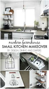Kitchen Makeover For Small Kitchen Small Kitchen Makeover With A Modern Farmhouse Style Great Ideas