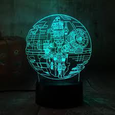 Hot Sale 2019 New <b>Star Wars</b> Death Star <b>3D LED</b> Night Light 7 ...