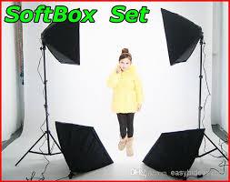 best photography rectangle continuous softbox lighting kit 50x70cm softbox light holder stand photo studio equipment set under 120 4 dhgate com