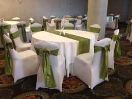 sage green taffeta sashes on white spandex chair covers wedding brownchaircovers com