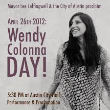 City of Austin proclaims Wendy Colonna Day | Singer songwriter,  Songwriting, Singer