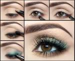 Несложный макияж для карий глаз