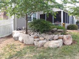 for this yardley pa residential property owner we installed a boulder retaining wall