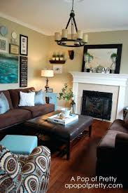 living room colors with brown couch. Dark Brown Living Room Linens With Blue Accents Just Looking At The Color Scheme Couch Taupe Walls And Light Colors
