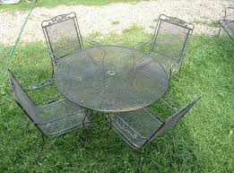 Vintage Wrought Iron Patio Table And Chairs