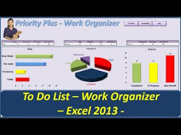 to do lists excel to do list priority plus work organizer vba excel 2013 youtube