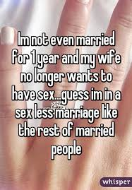 Wife wants sex less and less