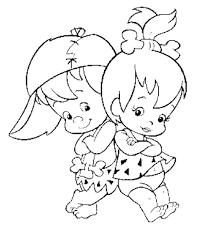 Disegno Di I Piccoli Dei Flintstones Da Colorare Per Bambini
