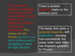sample essay the crucible ppt video online  14 this