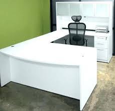 large glass office desk. Large Office Desk White U Shape With . Glass L
