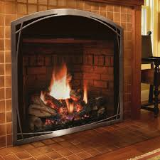 america s 1 luxury fireplace with an arched clean face viewing area