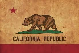 canvas california flag wall art