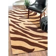 brown zebra rug 8x10 brown zebra rug dark and cream