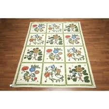6x9 wool area rugs area rugs wool fl ornamental needlepoint area rug 6 x 9 area