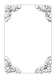 Free Card Borders Designs Borders And Frames Frame Vintage Calligraphic Frame