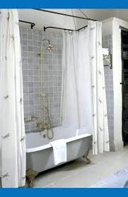 clawfoot tub shower curtain ideas liner solution solutions