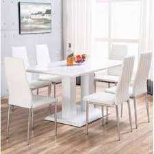 search results for white gloss table and chairs