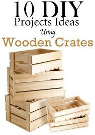 10 diy projects ideas using wooden crates