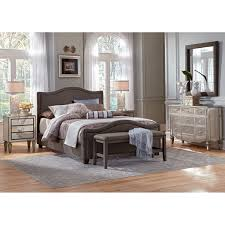 Gray Bedroom With Black Furniture