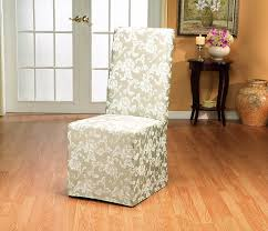 amazon sure fit scroll dining room chair slipcover chagne sf35461 kitchen dining