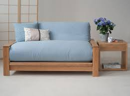 bed panama with pale blue wool cover