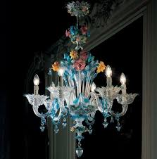 blue and gold classic murano glass chandelier da ponte glass italian glass chandeliers