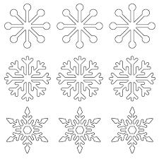 Free Printable Snowflake Templates Large Small Stencil