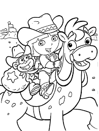 Dora Coloring Pages For Kids Printable