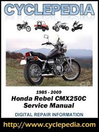honda cmx250c rebel 250 1985 2009 service manual by cyclepedia honda cmx250c rebel 250 1985 2009 service manual