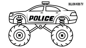 Monster Truck Coloring Page For Kids Monster Trucks Coloring Pages