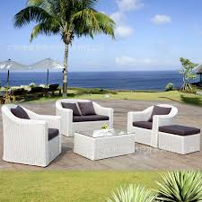 stylish outdoor furniture. White Rattan Sofa Stylish Outdoor Furniture PE Garden And Leisure N