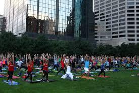 Green Light Kansas City Yoga Class On The Green Roof At The Kansas City Power