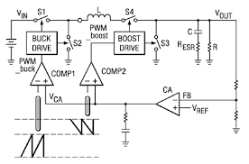 buck boost converters help extend battery life digikey a typical buck boost architecture