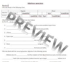 Possessive Adjectives In Spanish Worksheet Worksheets for all ...