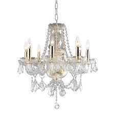 elegant lighting princeton 20 in 8 light gold crystal crystal candle chandelier