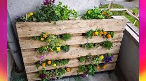 garden picture small space ing ideas vertical pallet keyhole