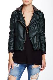image of free people vegan leather moto jacket
