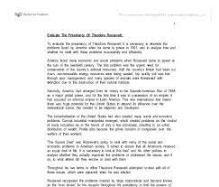 Teddy roosevelt essay