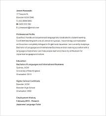 Tutor Resume Sample Gorgeous 28 Tutor Resume Templates DOC PDF Free Premium Templates