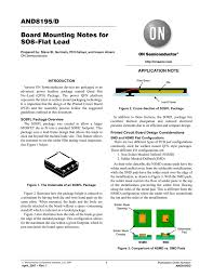 Smd Pad Design And8195 D Board Mounting Notes For So8 Flat Lead