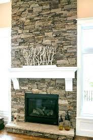 brick veneer fireplace refacing stone veneer over brick fireplace diy