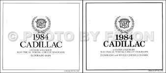 cadillac repair shop manual and body manual on cd rom 1984 cadillac eldorado diesel foldout wiring diagrams original color set