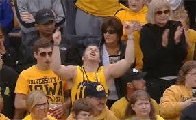 sports fans cheering gif. iowa fan sports fans cheering gif i